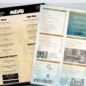 Premier Print UK print and design menus