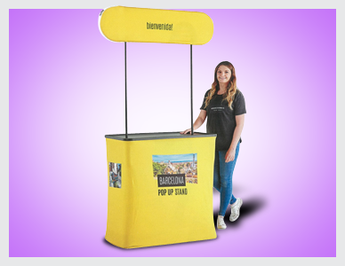 Premier Print UK fabric pop up kiosk
