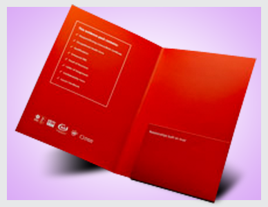 Premier Print UK print and crease fold folders with glued flap in full colour