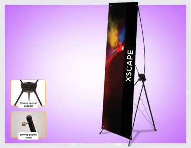Premier Print UK Print Xscape tension banners in full colour