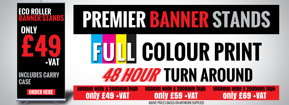Premier Print UK Premier Banner Stands front page slider graphic