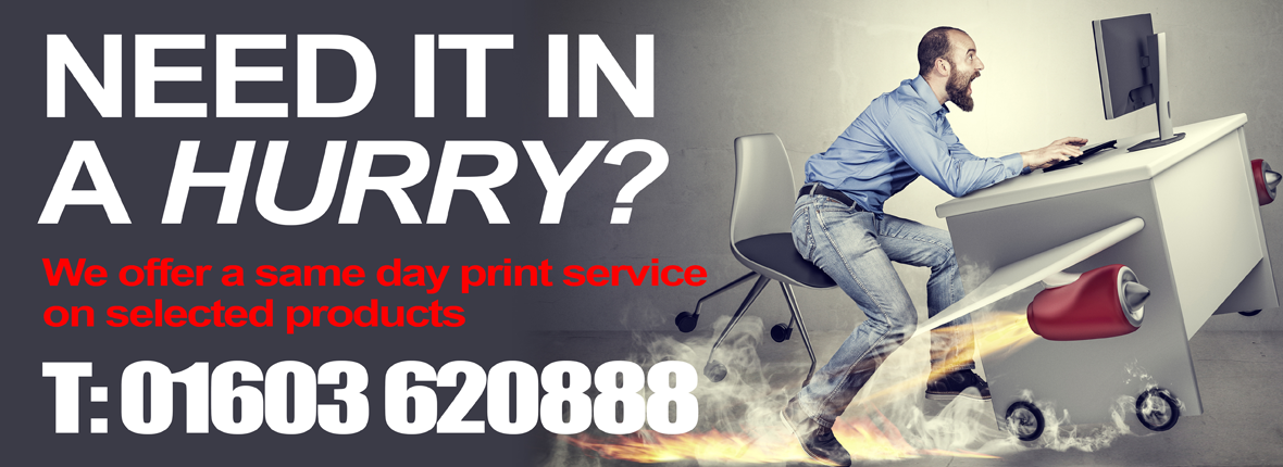 Premier Print UK 'Need it in a Hurry?' front page slider image