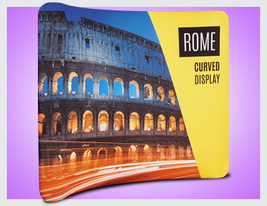 Premier Print UK Rome curved display