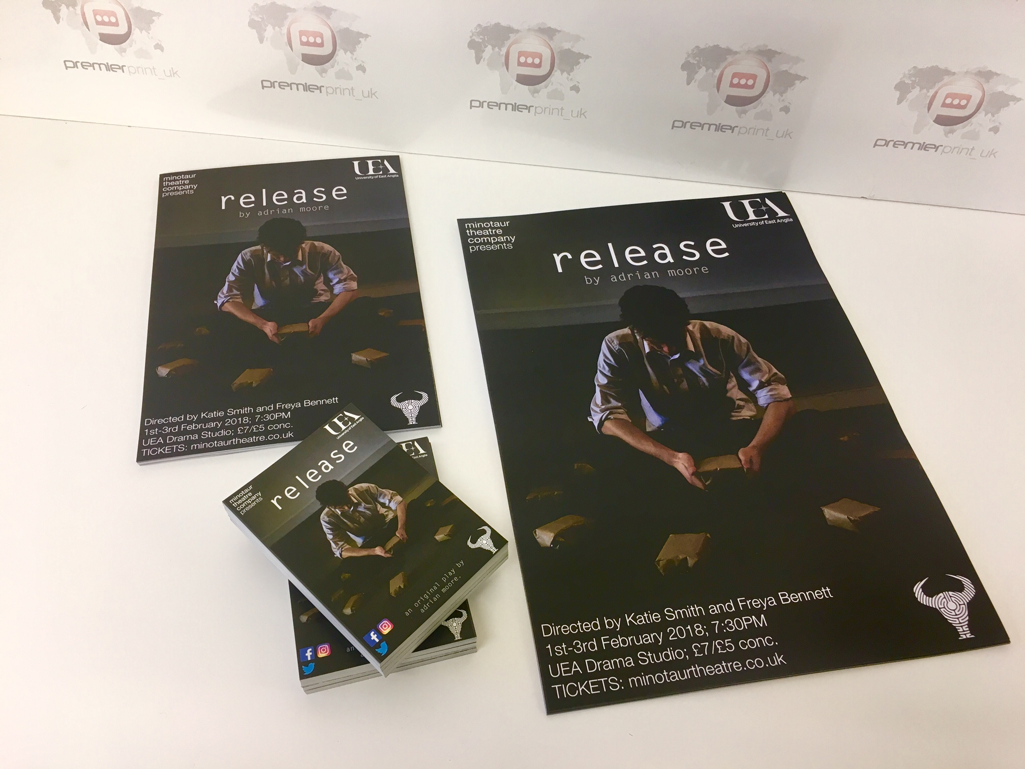 Flyer printed for the UEA