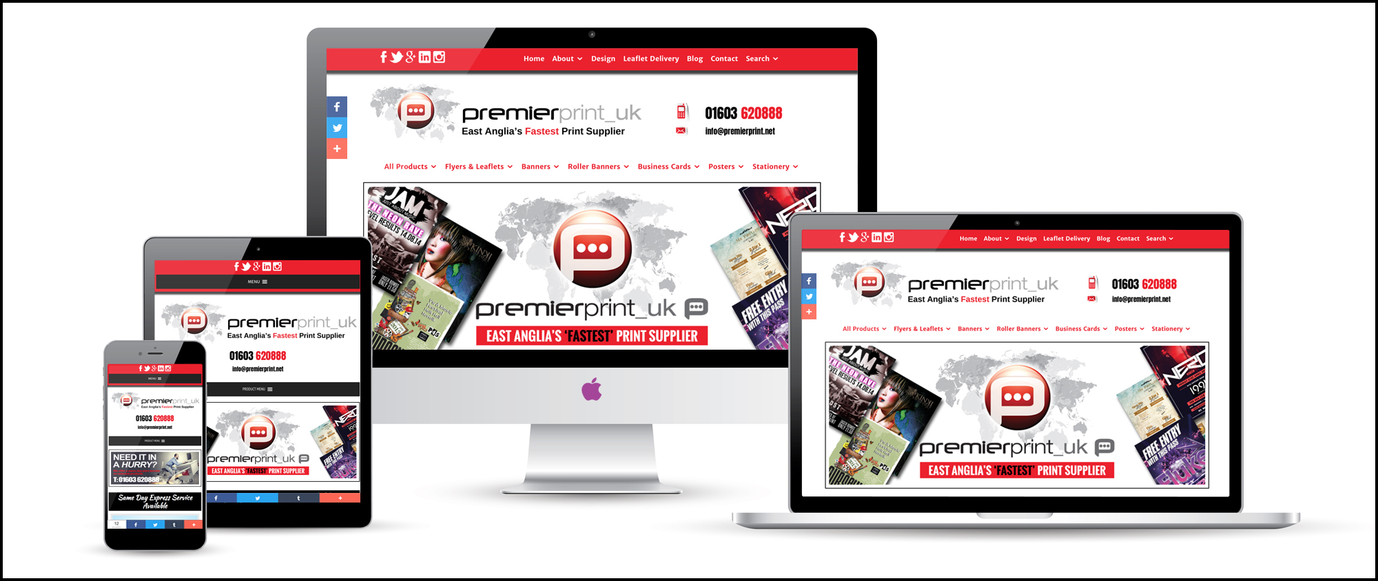 Premier Print UK — our NEW website is live! | East Anglia Print Supplier