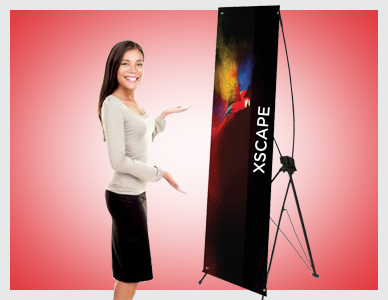 XSCAPE Tension Banner Stands | Premier Print UK | Fastest Printers in Norwich!
