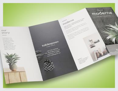 4 Panel DL Folded Leaflets printed by Premier Print UK